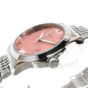 グッチ GUCCI レディース腕時計 Gタイムレス G-Timeless 38mm ピンク×シルバー YA126429 [在庫品]|brandol|04