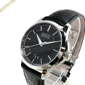 グッチ GUCCI メンズ腕時計 Gタイムレス 38mm 自動巻き ブラック YA126430 [在庫品]|brandol