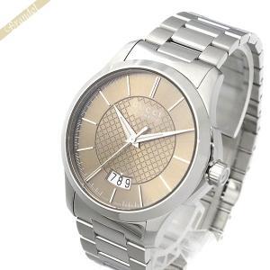 グッチ GUCCI メンズ腕時計 Gタイムレス 38mm 自動巻き ブラウン×シルバー YA126431 [在庫品]|brandol