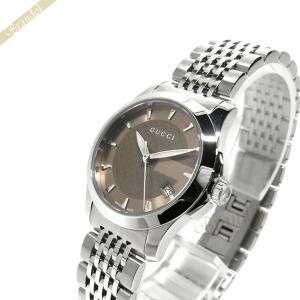 グッチ GUCCI レディース腕時計 Gタイムレス G-Timeless 27mm ブラウン×シルバー YA126503 [在庫品]|brandol