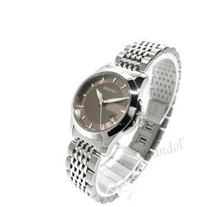 グッチ GUCCI レディース腕時計 Gタイムレス G-Timeless 27mm ブラウン×シルバー YA126503 [在庫品]|brandol|02