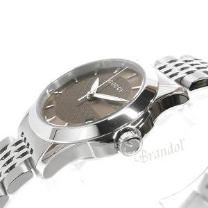 グッチ GUCCI レディース腕時計 Gタイムレス G-Timeless 27mm ブラウン×シルバー YA126503 [在庫品]|brandol|04