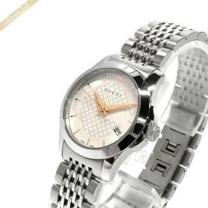 グッチ GUCCI レディース腕時計 Gタイムレス G-Timeless 27mm シルバー YA126565 [在庫品] brandol