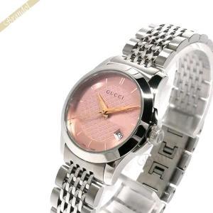 グッチ GUCCI レディース腕時計 Gタイムレス G-Timeless 27mm ピンク×シルバー YA126566 [在庫品] brandol