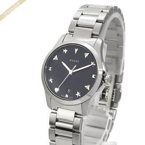 グッチ GUCCI レディース腕時計 Gタイムレス G-Timeless 27mm ブラック×シルバー YA126573 [在庫品]|brandol
