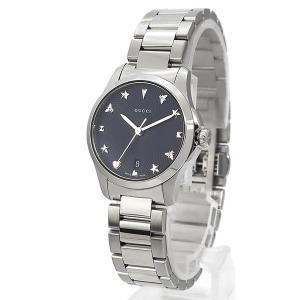 グッチ GUCCI レディース腕時計 Gタイムレス G-Timeless 27mm ブラック×シルバー YA126573 [在庫品]|brandol|02