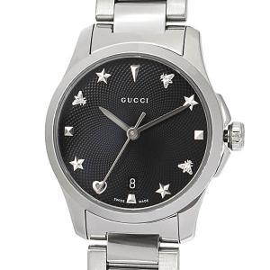 グッチ GUCCI レディース腕時計 Gタイムレス G-Timeless 27mm ブラック×シルバー YA126573 [在庫品]|brandol|03
