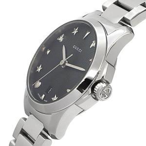 グッチ GUCCI レディース腕時計 Gタイムレス G-Timeless 27mm ブラック×シルバー YA126573 [在庫品]|brandol|04