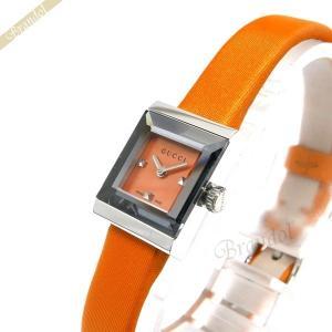 グッチ GUCCI レディース腕時計 Gフレーム G-Frame スクエア オレンジ YA128532 [在庫品]|brandol