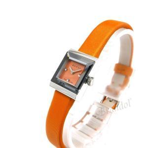 グッチ GUCCI レディース腕時計 Gフレーム G-Frame スクエア オレンジ YA128532 [在庫品]|brandol|02