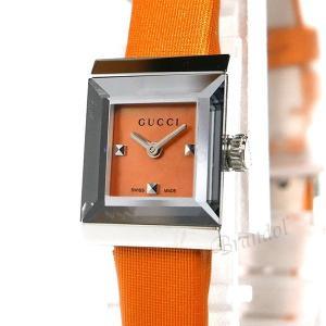 グッチ GUCCI レディース腕時計 Gフレーム G-Frame スクエア オレンジ YA128532 [在庫品]|brandol|03