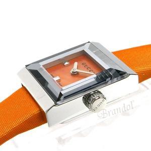 グッチ GUCCI レディース腕時計 Gフレーム G-Frame スクエア オレンジ YA128532 [在庫品]|brandol|04