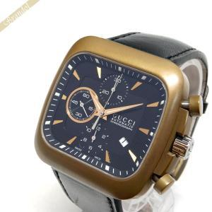 グッチ GUCCI メンズ腕時計 クーペ オートマチック クロノグラフ 自動巻き ブラック YA131204 [在庫品]|brandol