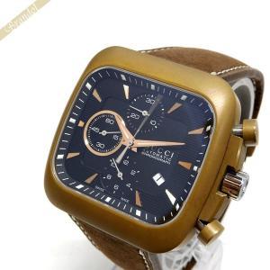 グッチ GUCCI メンズ腕時計 クーペ オートマチック クロノグラフ 自動巻き ブラック×ライトブラウン YA131205 [在庫品]|brandol