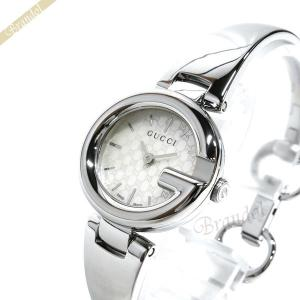 グッチ GUCCI レディース 腕時計 グッチシマ バングルウォッチ ホワイトパール×シルバー YA134511 [在庫品]|brandol
