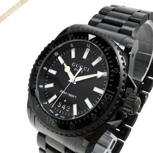 グッチ GUCCI メンズ腕時計 DIVE ダイヴ 45mm オールブラック YA136205 [在庫品]|brandol