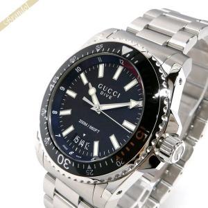 グッチ GUCCI メンズ メンズ腕時計 DIVE ダイヴ 48mm ブラック×シルバー YA136212 [在庫品]|brandol
