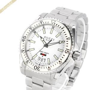 グッチ GUCCI メンズ腕時計 ダイヴ コレクション 43mm ホワイト×シルバー YA136302 [在庫品]|brandol