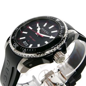 1c241d129a45 ... グッチ GUCCI メンズ腕時計 DIVE 40mm ブラック YA136303 [在庫品]|brandol| ...