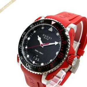 グッチ GUCCI メンズ 腕時計 DIVE ダイヴ 42mm ブラック×レッド YA136309 [在庫品]|brandol