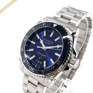 グッチ GUCCI メンズ メンズ腕時計 DIVE ダイヴ 40mm ブルー×シルバー YA136311 [在庫品]|brandol