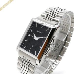 グッチ GUCCI メンズ 腕時計 Gタイムレス レクタングル ブラック×シルバー YA138401 [在庫品] brandol