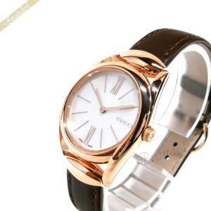 グッチ GUCCI レディース 腕時計 ホースビット 30mm ホワイト×ブラウン YA140507 [在庫品]|brandol