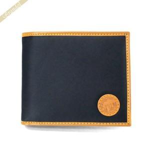 ハンティングワールド HUNTING WORLD メンズ 二つ折り財布 ネイビー 310 16A BATTUEOR NAVY [在庫品]|brandol