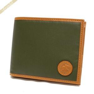ハンティングワールド HUNTING WORLD メンズ 二つ折り財布 バチュークロス 札入れ グリーン 320 10A/GRN [在庫品]|brandol