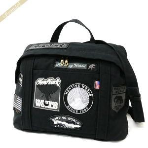 ハンティングワールド HUNTING WORLD メンズ・レディース ショルダーバッグ ドッグパッチ 2way ボディバッグ ブラック 5023 DP5 DOG PATCH/BLK [在庫品] brandol
