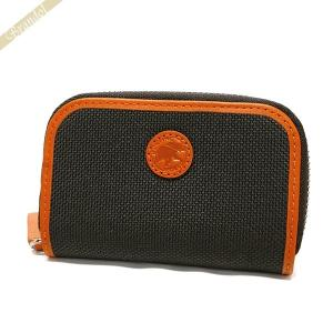 ハンティングワールド HUNTING WORLD 財布 メンズ 小銭入れ ラウンドファスナー コインケース ブラウン×オレンジ 677 435 ADOBE DB/OR [在庫品]|brandol
