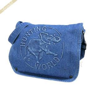 ハンティングワールド HUNTING WORLD メンズ ショルダーバッグ ブルー D-S/M-131 DENIMTOTE BLU [在庫品]|brandol