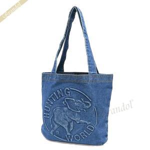 ハンティングワールド HUNTING WORLD メンズ・レディース トートバッグ ブルー DT M 131 DENIMTOTE BLU [在庫品]|brandol