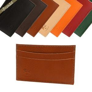 イルビゾンテ IL BISONTE カードケース メンズ 本革 薄型 レザー 定期入れ 各色 C0567 [在庫品]|brandol