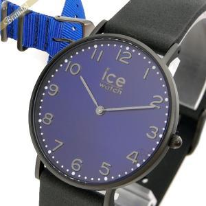 アイスウォッチ ICE WATCH メンズ・レディース 腕時計 アイスシティ ダラム 替えベルト付 36mm ブルー×ブラック CHL.A.DUR.36.N.15 [在庫品] brandol