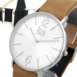 アイスウォッチ ICE WATCH メンズ・レディース腕時計 アイスシティ ベルファスト 替えベルト付 36mm シルバー×ベージュ CHL.B.BEL.36.N.15 [在庫品] brandol