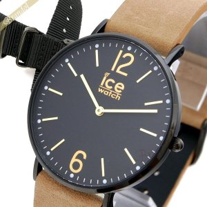 アイスウォッチ ICE WATCH メンズ・レディース 腕時計 アイスシティ プレストン 替えベルト付 36mm ブラック×ベージュ CHL.B.PRE.36.N.15 [在庫品] brandol