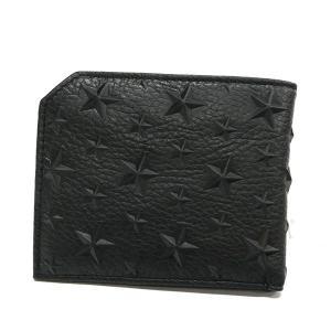 ジミーチュウ JIMMY CHOO メンズ 二つ折り財布 スター エンボス レザー オールブラック ALBANY EMG BLACK [在庫品]|brandol|02