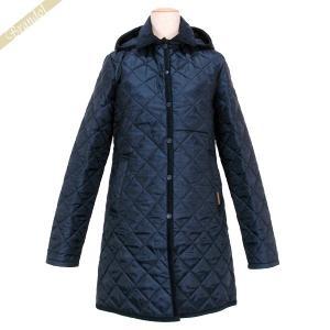 ラベンハム レディース キルティングジャケット HALSTEAD Aライン コート フード付 ネイビー Sサイズ/Mサイズ/Lサイズ [在庫品]|brandol