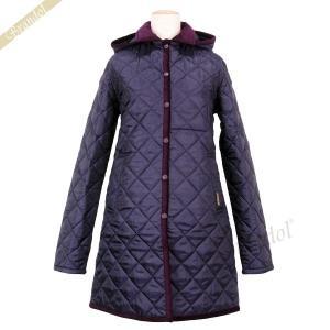 ラベンハム レディース キルティングジャケット HALSTEAD Aライン コート フード付 パープル Sサイズ/Mサイズ/Lサイズ [在庫品]|brandol