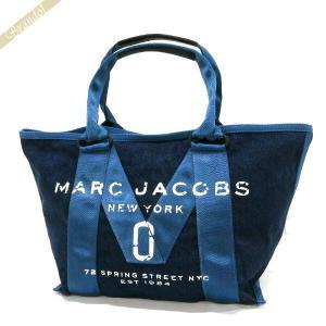 マークジェイコブス MARC JACOBS レディース トートバッグ New Logo Tote Denim デニム スモール ブルー M0011124 423 DENIM [在庫品] brandol