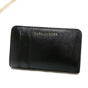 マークジェイコブス MARC JACOBS 財布 レディース 二つ折り財布 サフィアーノ レザー ブラック×パープル M0012050 592 BLACK/BERRY [在庫品] brandol