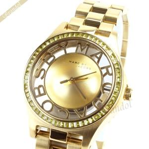 マークバイマークジェイコブス MARC BY MARC JACOBS レディース腕時計 ヘンリー スケルトン グリッツ 34mm ゴールド MBM3338 [在庫品]|brandol