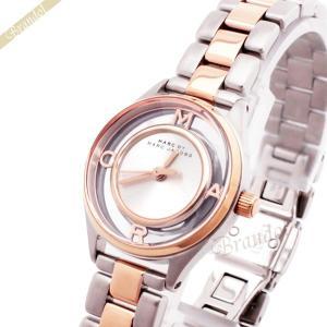 マークバイマークジェイコブス MARC BY MARC JACOBS レディース腕時計 ティザー25 コンビベルト 25mm シルバー×ピンクゴールド MBM3418 [在庫品] brandol
