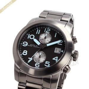 マークバイマークジェイコブス MARC BY MARC JACOBS メンズ腕時計 ラリー 44mm クロノグラフ ガンメタル×ブルー MBM5051 [在庫品]|brandol