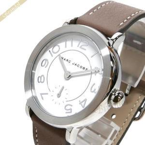 マークバイマークジェイコブス MARC BY MARC JACOBS レディース腕時計 ライリー 36mm ホワイト×モカブラウン MJ1468 [在庫品]|brandol