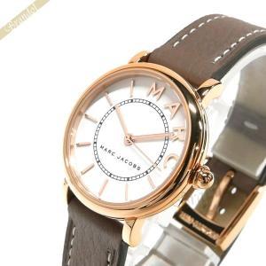 マークジェイコブス MARC JACOBS レディース 腕時計 ロキシー ROXY 28mm ホワイト×モカブラウン MJ1538 [在庫品]|brandol