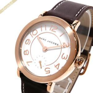 マークジェイコブス MARC JACOBS レディース腕時計 ライリー RILEY 36mm ホワイト×ブラウン MJ8676 [在庫品]|brandol