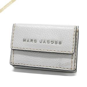 マークジェイコブス MARC JACOBS レディース 三つ折り財布 ロゴ レザー ミニウォレット ライトグレー M0014702 071 【2019年春夏新作】 [在庫品]|brandol
