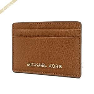 マイケルコース MICHAEL KORS カードケース レディース Jet Set Travel サフィアーノ レザー ブラウン 32S4GTVD1L 230 LUGGAGE [在庫品]|brandol